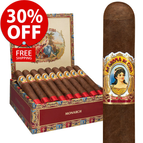 La Aroma De Cuba Monarch (6x52 / 10 PACK SPECIAL) + 30% OFF RETAIL! + FREE SHIPPING ON YOUR ENTIRE ORDER!