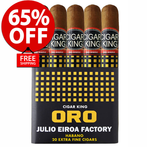 Cigar King Oro By Aladino Habano Toro (6x50 / Bundle Of 20) + 65% OFF RETAIL! + FREE SHIPPING ON YOUR ENTIRE ORDER!