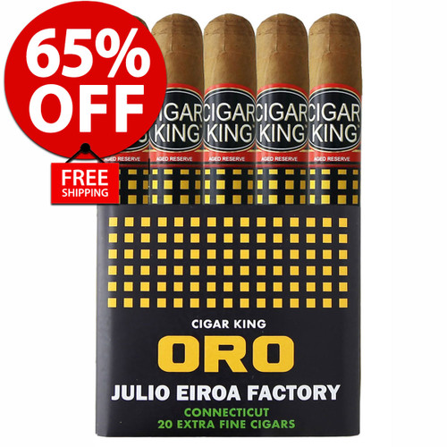 Cigar King Oro By Aladino Connecticut Toro (6x50 / Bundle Of 20) + 65% OFF RETAIL! + FREE SHIPPING ON YOUR ENTIRE ORDER!