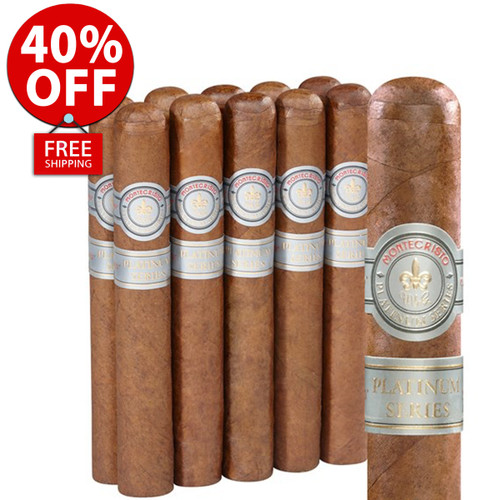Montecristo Platinum Robusto (5x50 / 11 PACK SPECIAL) + 40% OFF RETAIL + FREE SHIPPING ON YOUR ENTIRE ORDER!