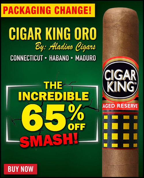 Cigar King Oro By Aladino Connecticut Toro (6x50 / 10 PACK SPECIAL) + 65% OFF RETAIL!