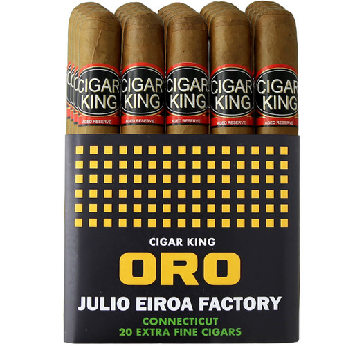 Cigar King Oro By Aladino Connecticut Corona (5x44 / Bundle Of 20) + FREE SHIPPING ON YOUR ENTIRE ORDER!