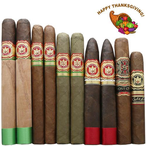 Arturo Fuente Opus X Rare Thanksgiving Cornucopia Sampler (10 Cigars Featuring Anejo, Opus X, Don Carlos Personal Reserve)