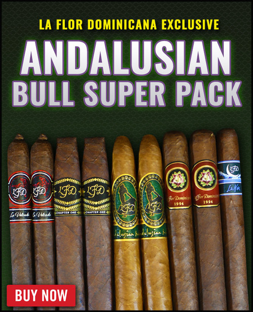 La Flor Dominicana Rare Andalusian Bull Super Pack (9 CIGAR SAMPLER) + 25% OFF RETAIL! + FREE SHIPPING ON YOUR ENTIRE ORDER!