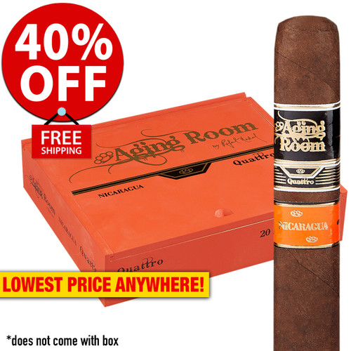 Aging Room Quattro Nicaragua Vibrato (6x54 / 10 PACK SPECIAL) + 40% OFF RETAIL! + FREE SHIPPING ON YOUR ENTIRE ORDER!