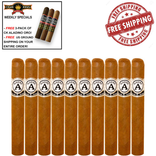 Aladino Connecticut By Julio R. Eiroa Toro (6x50 / 10 PACK SPECIAL) + FREE 3-PACK OF CK ORO BY ALADINO + FREE SHIPPING ON YOUR ENTIRE ORDER!