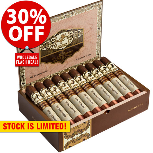 Esteban Carreras Mr. Brownstone Maduro Sesenta (6x60/ 10 Pack) + 30% OFF RETAIL!