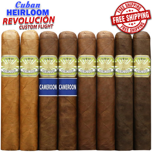 Cuban Heirloom Revolución Custom Flight Pack (8 CIGAR SPECIAL) + FREE SHIPPING ON YOUR ENTIRE ORDER!