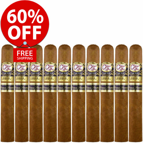Cigar King Gold Series Reserva Limitada By Pinar Del Rio (6x54 / 10 PACK SPECIAL) + FREE SHIPPING ON YOUR ENTIRE ORDER!