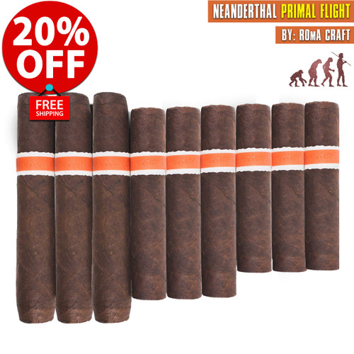 Neanderthal Primal Flight By RoMa Craft Tobac (9 PACK SPECIAL) + 20% OFF + FREE SHIPPING ON YOUR ENTIRE ORDER!