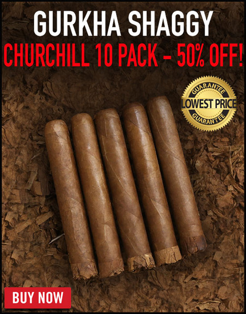 Gurkha Vintage Shaggy Churchill (7x52 / 10 Pack) + 50% OFF! + FREE SHIPPING ON YOUR ENTIRE ORDER!