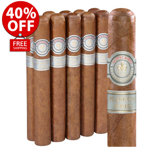 Montecristo Platinum Toro (6x50 / 10 PACK SPECIAL) + 40% OFF RETAIL + FREE SHIPPING ON YOUR ENTIRE ORDER!