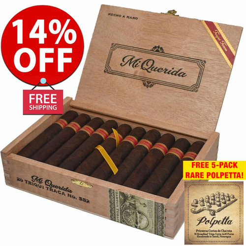 Mi Querida Triqui Traca No. 648 (6x48 / Box 20) + 14% OFF RETAIL! + FREE 5-PACK RARE POLPETTA CIGARS! + FREE SHIPPING ON YOUR ENTIRE ORDER!