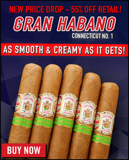 Gran Habano #1 Connecticut Robusto Especiale (5.87x54 / 10 PACK SPECIAL) + 20% OFF!