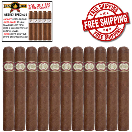 Illusione Fume D'Amour Viejos (5x50 / 11 PACK SPECIAL) + FREE 5-PACK LIGA-1 CK AGANORSA LEAF TORO + FREE SHIPPING ON YOUR ENTIRE ORDER!