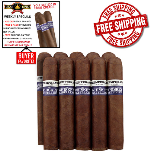 Intemperance Whiskey Rebellion 1794 Bradford By RoMa Craft (5x56 / 10 PACK SPECIAL) + 10% OFF + FREE 3-PACK BUENOS SUENOS RESERVA ($30 VALUE) + FREE SHIPPING ON YOUR ENTIRE ORDER!