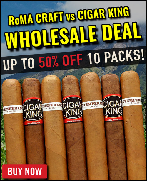 RoMA Craft Intemperance EC XVIII Industry Belicoso vs Cigar King Aganorsa Leaf  (5.5x54 / 10 Pack) + 43% OFF + FREE SHIPPING ON YOUR ENTIRE ORDER!