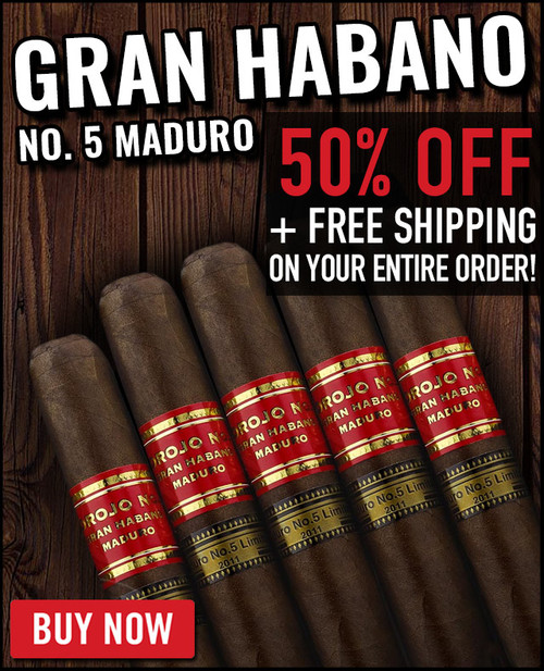 Gran Habano #5 Maduro Corojo Churchill (7x48 / 20 PACK SPECIAL) + 50% OFF! + FREE SHIPPING ON YOUR ENTIRE ORDER!