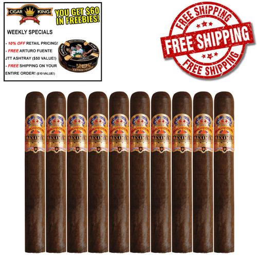 Diamond Crown Maximus No. 10 Double Belicoso (6.75x54 / 10 PACK SPECIAL) + 10% OFF RETAIL PRICING + 3 Diamond Crown Cameroon No. 10 + FREE SHIPPING ON YOUR ENTIRE ORDER!