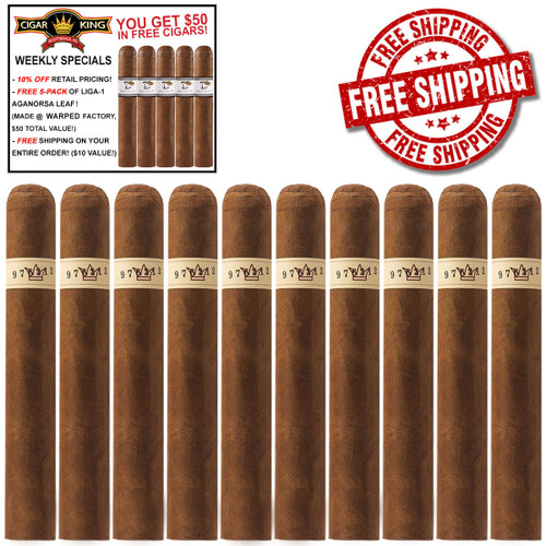 Warped Serie Gran Reserva 1988 Robusto (5.25x50 / 10 CIGAR SPECIAL) + FREE 5-PACK LIGA-1 CK AGANORSA LEAF ($50 VALUE) + FREE BOVEDA FRESH PACK + FREE SHIPPING ON YOUR ENTIRE ORDER!