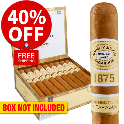 Romeo y Julieta 1875 Nicaragua Connecticut Toro (6x52 / Pack 25) + 40% OFF RETAIL! + FREE SHIPPING ON YOUR ENTIRE ORDER!