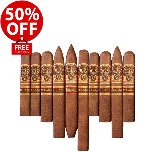 Oliva Serie V Melanio Greatest Of All Time Flight (10 PACK SPECIAL) + 24 HOUR UPGRADE: 50% OFF RETAIL! + BOVEDA FRESH PACK (FOR TRANSIT) + FREE SHIPPING ON YOUR ENTIRE ORDER!
