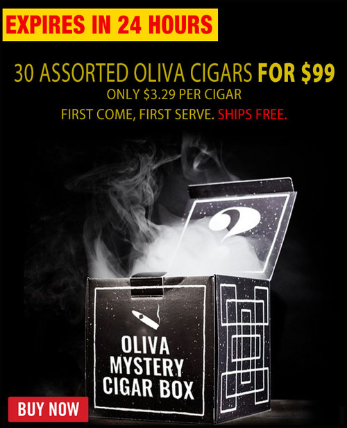 Rare Oliva Mystery Cigar Box Extravaganza (30 PACK MEGA SAMPLER) + 60% OFF RETAIL! + FREE SHIPPING ON YOUR ENTIRE ORDER!