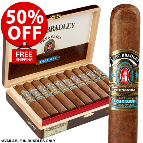 Alec Bradley Prensado Lost Art Robusto (5x52 / Pack 20) + 50% OFF RETAIL! + FREE SHIPPING ON YOUR ENTIRE ORDER!