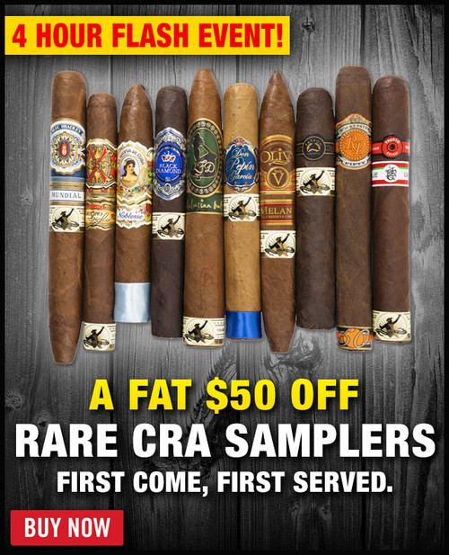 Rare 2019 CRA Cigar Sampler (10 PACK SPECIAL) + 4 HOUR BONUS: $50 OFF! + 6 MONTH BOVEDA HUMIDOR FRESH BAG! + FREE SHIPPING ON YOUR ENTIRE ORDER!