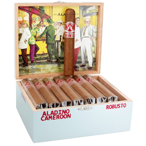 Aladino Cameroon By Julio R. Eiroa Robusto (5x50 / Box 24)