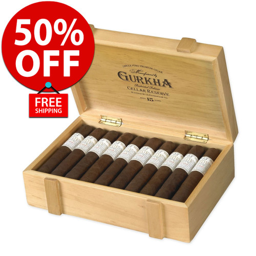 Gurkha Cellar Reserve 15 Year Prisoner Churchill (7x54 / 20 Pack) + 50% OFF RETAIL! + FREE SHIPPING ON YOUR ENTIRE ORDER!