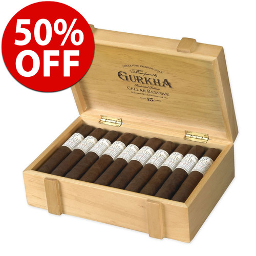 Gurkha Cellar Reserve 15 Year Prisoner Churchill (7x54 / 10 Pack) + 50% OFF RETAIL! + FREE SHIPPING ON YOUR ENTIRE ORDER!