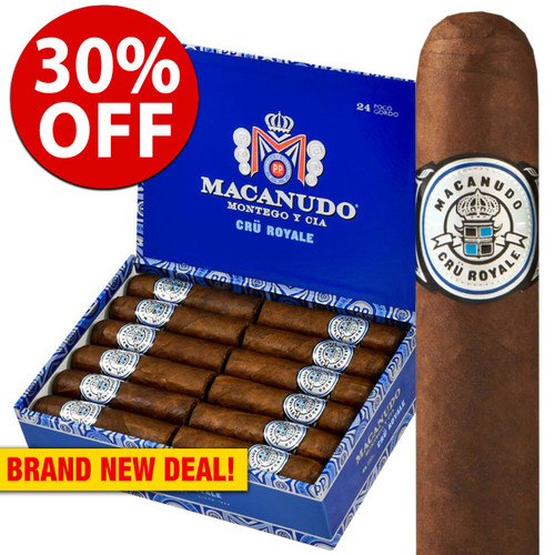 Macanudo Cru Royale Poco Gordo Robusto (4x60 / 5 Pack) + 30% OFF RETAIL!