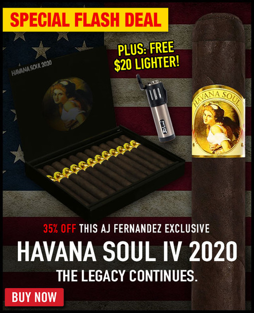 Havana Soul IV 2020 Toro By AJ Fernandez (6x52 / Bundle 20)  + 35% OFF RETAIL! + FREE JETLINE ASPEN LIGHTER! + FREE SHIPPING ON YOUR ENTIRE ORDER!