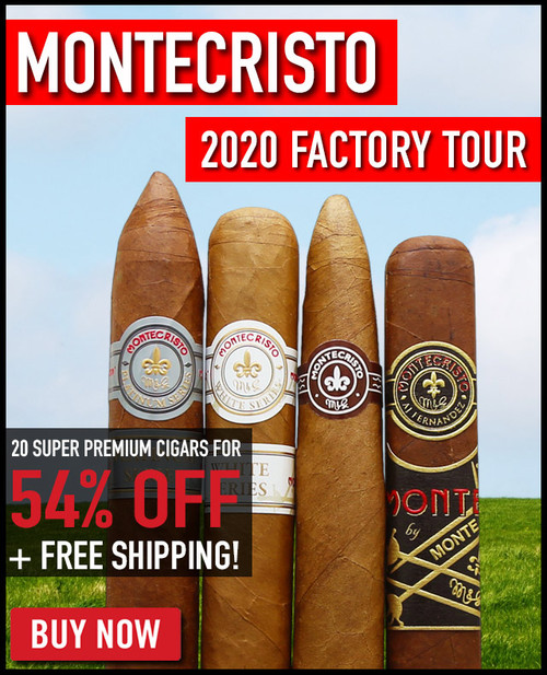 Montecristo 2020 Factory Tour (20 PACK SPECIAL) + 54% OFF RETAIL + FREE SHIPPING ON YOUR ENTIRE ORDER!