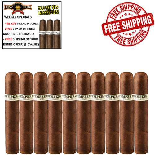 Intemperance BA XXI Intrigue Petite Corona (4x46 / 10 PACK SPECIAL) + 10% OFF RETAIL! + FREE 3-PACK ROMA CRAFT INTEMPERANCE! + FREE SHIPPING ON YOUR ENTIRE ORDER!