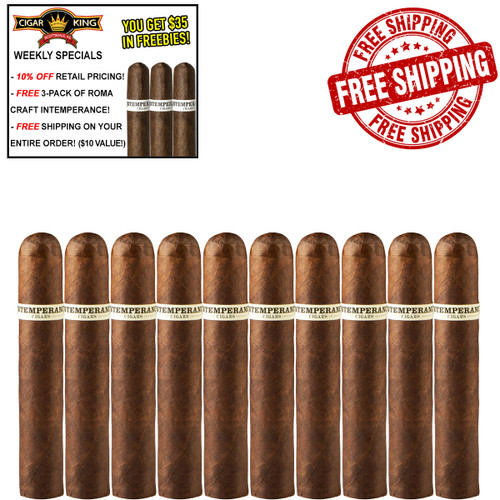 Intemperance BA XXI Breach Of The Peace Robusto Extra (5x56 / 10 PACK SPECIAL) + 10% OFF RETAIL! + FREE 3-PACK ROMA CRAFT INTEMPERANCE! + FREE SHIPPING ON YOUR ENTIRE ORDER!