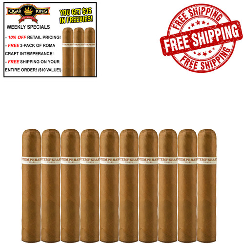 Intemperance EC XVIII Virtue Short Robusto (4.5x52 / 10 PACK SPECIAL) + 10% OFF RETAIL! + FREE 3-PACK ROMA CRAFT INTEMPERANCE! + FREE SHIPPING ON YOUR ENTIRE ORDER!