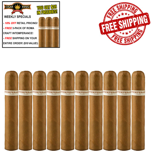 Intemperance EC XVIII Brotherly Kindness Robusto Extra (5x56 / 10 PACK SPECIAL) + 10% OFF RETAIL! + FREE 3-PACK ROMA CRAFT INTEMPERANCE! + FREE SHIPPING ON YOUR ENTIRE ORDER!