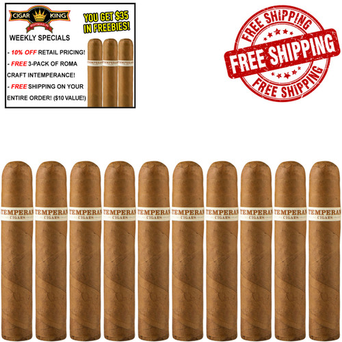 Intemperance EC XVIII Charity Petite Corona (4x46 / 10 PACK SPECIAL) + 10% OFF RETAIL! + FREE 3-PACK ROMA CRAFT INTEMPERANCE! + FREE SHIPPING ON YOUR ENTIRE ORDER!