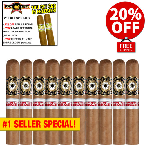 Perdomo Small Batch Connecticut Rothschild (4.5x50 / 10 PACK SPECIAL) + 20% OFF RETAIL! + FREE 2-PACK CUBAN HEIRLOOM ($20 VALUE) + FREE SHIPPING ON YOUR ENTIRE ORDER!