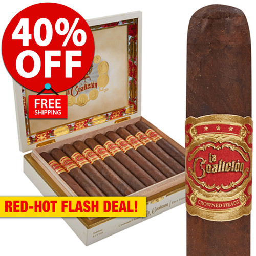 La Coalicion by Crowned Heads & Drew Estate Gordito Robusto (5.5x50 / 10 PACK SPECIAL) + 40% OFF RETAIL! + FREE SHIPPING ON YOUR ENTIRE ORDER!