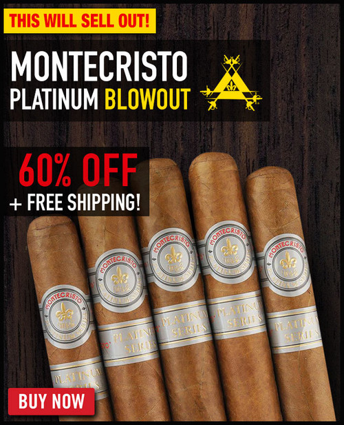 Montecristo Platinum Robusto (5x50 / 21 PACK SPECIAL) + 60% OFF RETAIL + FREE SHIPPING ON YOUR ENTIRE ORDER!