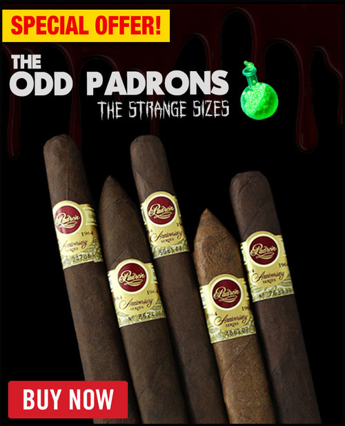 """Padron """"The Odd Padron"""" Strange Sizes 1964 Anniversary Sampler (5 PACK SPECIAL) + FREE SHIPPING ON YOUR ENTIRE ORDER!"""