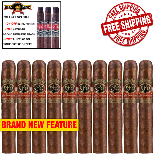 La Flor Dominicana Air Bender Guerrero Toro (6.2x54 / 10 PACK SPECIAL) + FREE 3-PACK LFD CIGARS! + FREE SHIPPING ON YOUR ENTIRE ORDER!