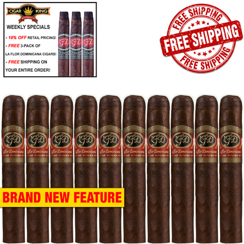 La Flor Dominicana Air Bender Matatan Robusto Maduro (5.5x50 / 10 PACK SPECIAL) + FREE 3-PACK LFD CIGARS! + FREE SHIPPING ON YOUR ENTIRE ORDER!