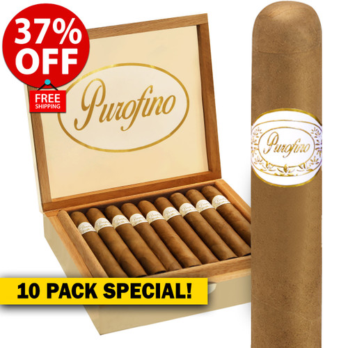Purofino White Label Connecticut #1 Robusto (5x50 / 10 PACK SPECIAL) + 37% OFF RETAIL! + FREE SHIPPING ON YOUR ENTIRE ORDER!
