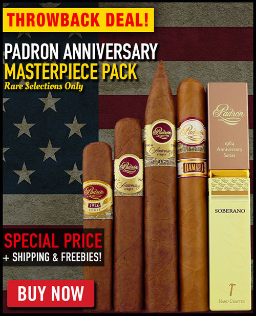 Padron Anniversary Masterpiece Flight (5 CIGAR SPECIAL) + FREE JETLINE TORCH! + FREE SHIPPING ON YOUR ENTIRE ORDER!