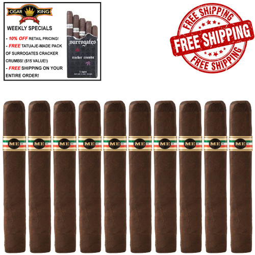 Tatuaje Mexican Experiment II Churchill (6.5x48 / 10 PACK SPECIAL) + 10% OFF RETAIL PRICING! + FREE 5-PACK OF TATUAJE-MADE SURROGATES CRACKER CRUMBS ($15 VALUE!) + FREE SHIPPING ON YOUR ENTIRE ORDER!