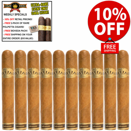Sobremesa Brulee Double Corona  (7x54 / 10 PACK SPECIAL) + 10% OFF RETAIL! + FREE 2-PACK RARE POLPETTA CIGARS! + FREE SHIPPING ON YOUR ENTIRE ORDER!
